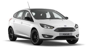 Ford Focus White and Black